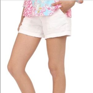 Lily Pulitzer solid White Shorts with Pockets